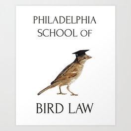 Philadelphia School of Bird Law Art Print
