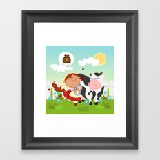The milkmaid Framed Art Print