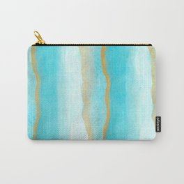 Gold and blue sea Carry-All Pouch