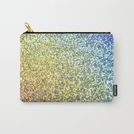 Blue & Gold Glitter Ombre Carry-All Pouch
