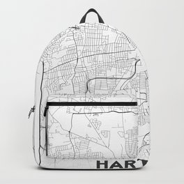 Minimal City Maps - Map Of Hartford, Connecticut, United States Backpack