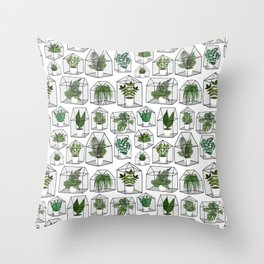 Greenhouses and Terrariums Throw Pillow