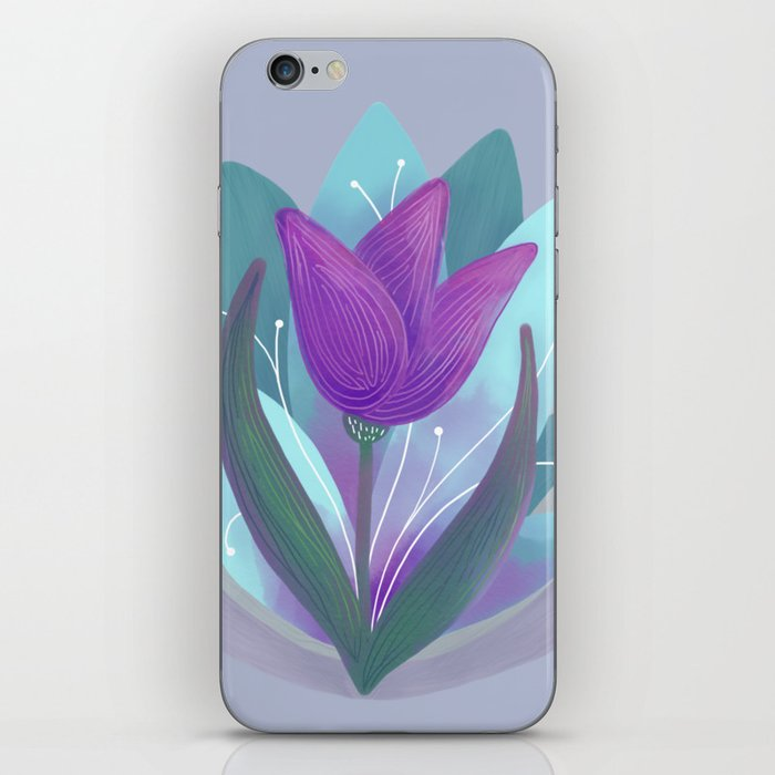 Tulip and Lotus Blossom iPhone Skin