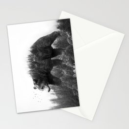 Walking trough the forest Stationery Cards