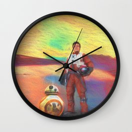 Poe Dameron Wall Clock