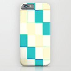 Teal & Cream Checkers : CHECKERBOARD Slim Case iPhone 6s