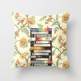 VHS & Entry Hall Wallpaper Throw Pillow