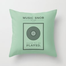 Made to be Played — Music Snob Tip #33⅓ A Throw Pillow
