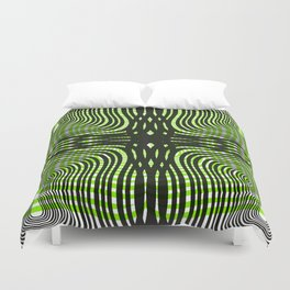 Zebra gone mad Duvet Cover