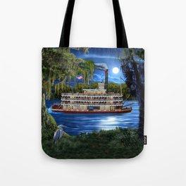 Mystcal Moonlight Cruise Down the Bayou Tote Bag