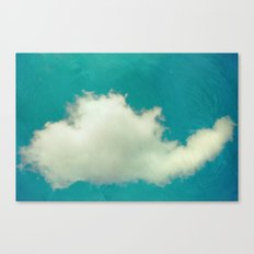 Genie in a Bottle.  Cloud Photography.  Turquoise Canvas Print