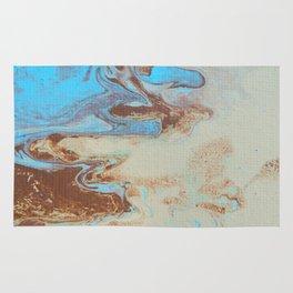 Dirty Acrylic Paint Pour 27, Fluid Art Reproduction Rug