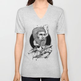 THE MAN AND THE SEA Unisex V-Neck