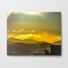 Mountains West of Denver Metal Print