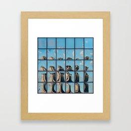Ney York City - Brooklyn Bridge Reflection Framed Art Print