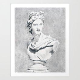 Apollo Bust Sculpture Art Print
