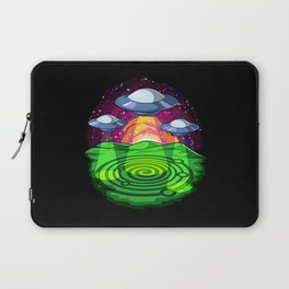 Alien Abduction Crop Circles Laptop Sleeve