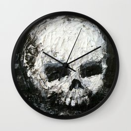 Skull Art by Jack Larson Wall Clock