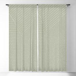 Lines (Linen Sage) Blackout Curtain
