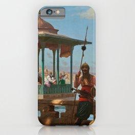 """Jean-Léon Gérôme """"The Harem in the Kiosk"""" iPhone Case"""