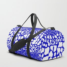 ANIMAL PRINT SNAKE SKIN BLUE AND WHITE PATTERN Duffle Bag