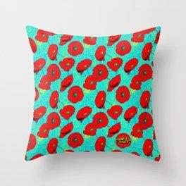 Flor de Amapola Throw Pillow
