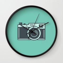 Camera Illustration Wall Clock