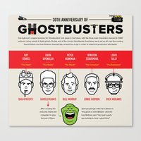 ghost busters Canvas Prints featuring 30th Anniversary Ghost Busters by LUNCHMONEY973