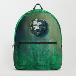 Lion Head Green Marble Backpack
