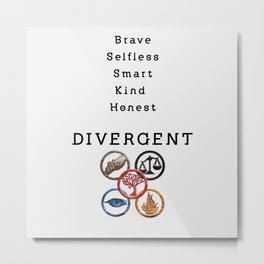 DIVERGENT - ALL FACTIONS Metal Print