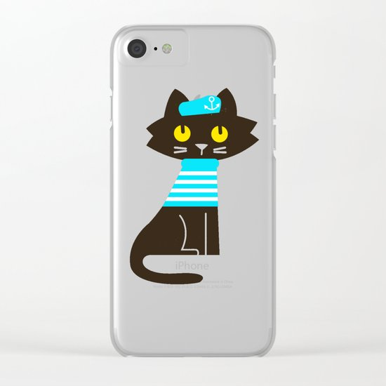 Fitz - Sailor cat Clear iPhone Case