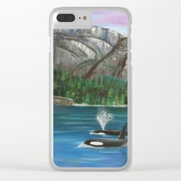 Orcas at the Chief Clear iPhone Case