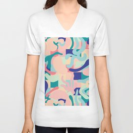 Summer Vibes Pattern Unisex V-Neck