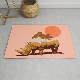 Abstraction_SUN_RHINO_MOUNTAINS_PEAK_POP_ART_010AR Rug