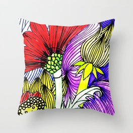 Flowers Two Throw Pillow