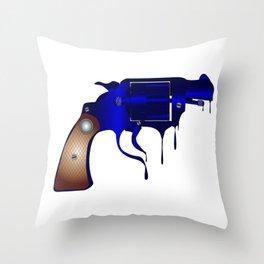 Melting Gun Throw Pillow