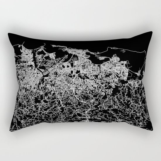 san juan map porto rico Rectangular Pillow