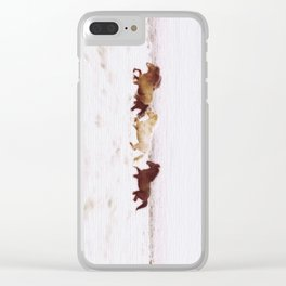 WILD AND FREE 5 - HORSES OF ICELAND Clear iPhone Case