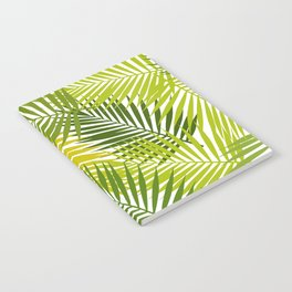 Palm leaf silhouettes seamless pattern. Tropical leaves. Notebook
