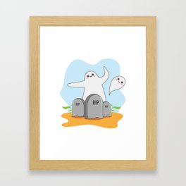 The Happy Ghost Framed Art Print