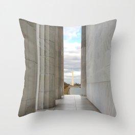 Washington Columns Throw Pillow