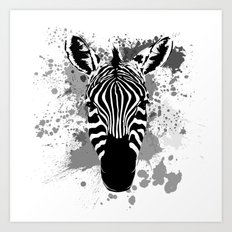 Splatter Stripes Art Print
