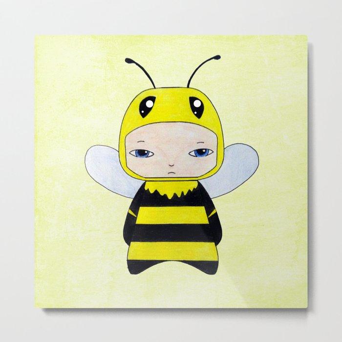 A Boy - Bee Metal Print