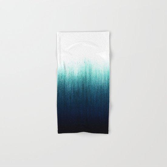 Teal Ombré Hand & Bath Towel