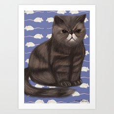 Cranky Cat / Shitty Kitty Art Print