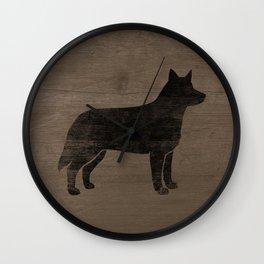Australian Cattle Dog Silhouette(s) Wall Clock