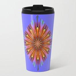 Modern Golden Mandala Daisy Travel Mug
