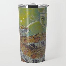 Serpent Goddess, Fantasy Snake Art Travel Mug