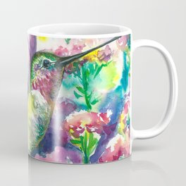 Hummingbird in flowers Coffee Mug