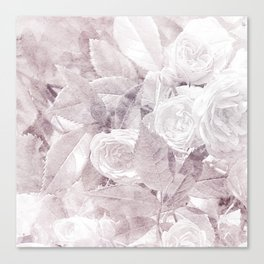 Lavender Watercolor Floral Rose Print Canvas Print
